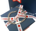Little boys silver bracelet - D for Diamond B2843