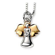 P4019 D for Diamond Gold Wing Angel Pendant