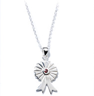 Jo For Girls Silver Horse Rosette Pendant