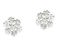 White snowflake earrings for girls