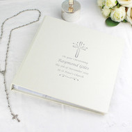 Personalised Silver Cross Christening Photo Album with Sleeves