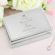Personalised flowergirl jewellery box