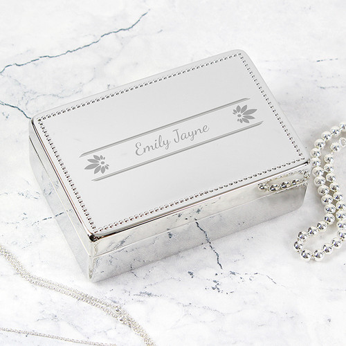 Personalised Pretty Petals Jewellery Box