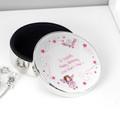 Personalised Pink Fairy Round Trinket