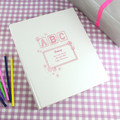 Pink ABC baby girls personalised photo album