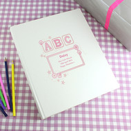 Pink ABC baby girls personalised photo album