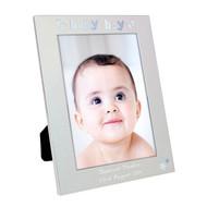 Personalised Baby Boy Photo Frame