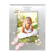 Personalised Wired Butterfly Glass Photo Frame