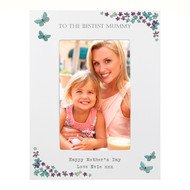 Personalised Forget Me Not Photo Frame