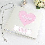 Pink Heart Baby Girl Photo Album - personalised