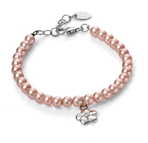 B4787 D for Diamond Girls Pearl Bracelet