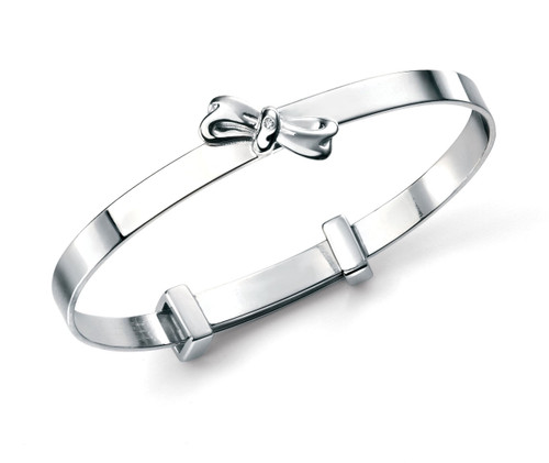 B4781 D for Diamond Bow Bangle