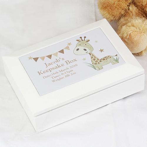 Personalised baby keepsake box