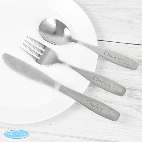 Personalised Tiny Tatty Teddy Cutlery Set