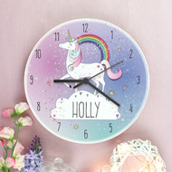 Childrens personalised unicorn clock