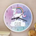 Girls Personalised wall clock - unicorn