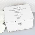White Christening New Baby Keepsake Box