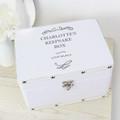 White personalised keepsake box