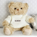 Personalised Teddy Bear with knitted jumper