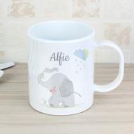 Personalised Elephant Plastic Mug
