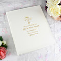 Gold cross personalised christening album