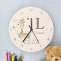 Personalised Little Boy's Bedroom Clock