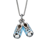 P4441 D for Diamond Blue Bootee Pendant