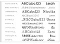 Choose typeface for engraving