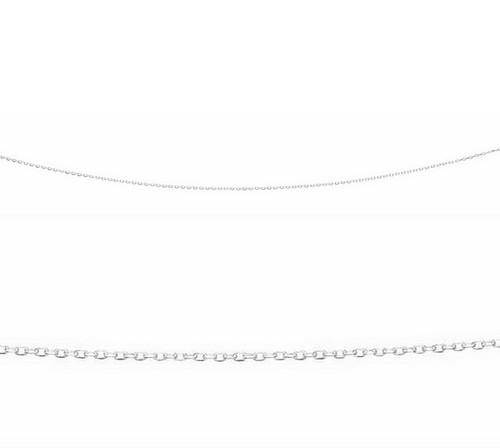 """16"""" silver oval link belcher chain N3186"""