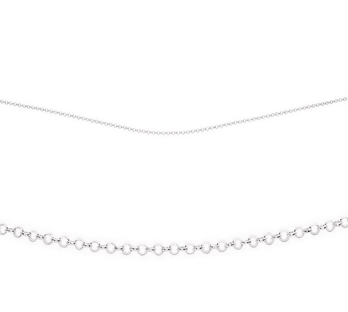 """16"""" sterling silver midweight belcher chain"""