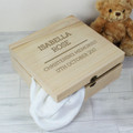 Wooden baby keepsake box