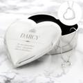 Engraved heart trinket for girls with heart pendant