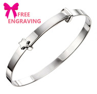 Sterling Silver Star Expanding Baby Bangle