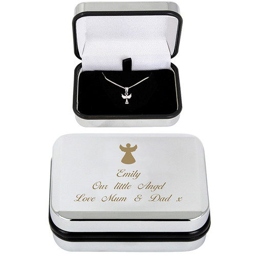 Angel Necklace with FREE Engraved Gift Box