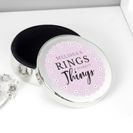 Personalised ring trinket pot
