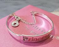 Princess silver plated bracelet