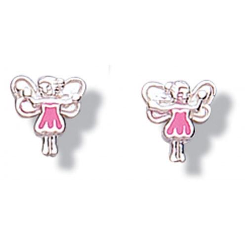 Girls pink fairy earrings