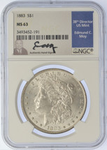 1883 Morgan Dollar MS63 NGC Moy