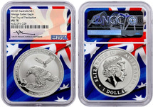 2018 P MS70 $1 Australia Wedge Tailed Eagle First Day of Production NGC