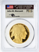 2011-W $50 Proof Gold Buffalo PR70 PCGS Flag Mercanti