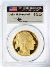 2016-W $50 Proof Gold Buffalo PR70 PCGS Flag Mercanti