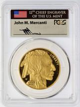 2007-W $50 Proof Gold Buffalo PR70 PCGS Flag Mercanti *LOW POP*