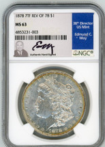 1878 7TF Rev of 78 Morgan Dollar MS63 NGC Moy