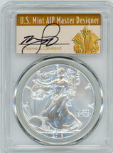 2016-W Burnished Silver Eagle 30th Anniversary First Strike Lettered Edge THomas Cleveland Art Deco