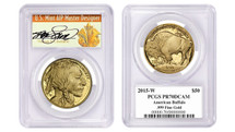 2015-W $50 Proof Gold Buffalo PR70 PCGS Thomas Cleveland Art Deco