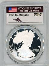 2018-W $1 Proof Silver Eagle PR70 PCGS John Mercanti Signed