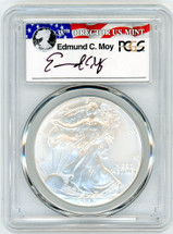 2006-W Burnished Silver Eagle SP 70 PCGS Moy Signed - PRICE GUIDE $400