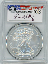 2013-W Burnished Silver Eagle SP 70 PCGS Moy Signed - PRICE GUIDE $275