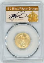 2008-W $10 Burn Gold Eagle SP70 PCGS T. Cleveland Art Deco