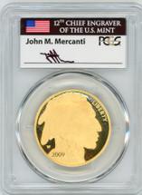 2009-W $50 Proof Gold Buffalo PR70 PCGS First Strike flag Mercanti